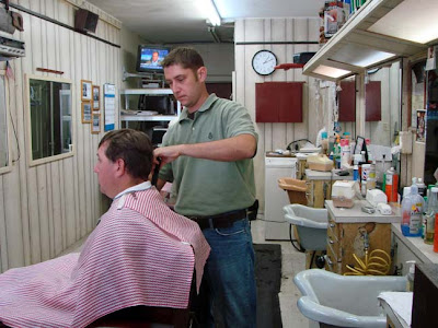 ... All These Buckets Coming Out Of My Ears: My old-fashioned barber shop