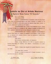 Medalla de Oro al Artista Nacional