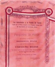 PERGAMINO DE HONOR