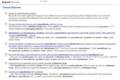 MPECS Inc  Blog: Windows Vista - QuickBooks still doesn't