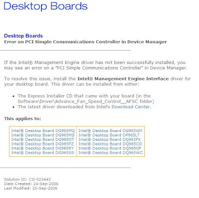 INTEL DQ35JO PCI SIMPLE COMMUNICATIONS CONTROLLER DRIVER DOWNLOAD