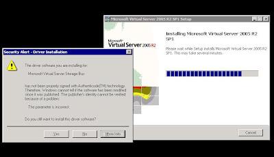 MPECS Inc  Blog: Virtual Server 2K5 R2 SP1 - Error