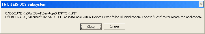 MPECS Inc  Blog: XP - 16 bit MS-DOS Subsystem - Error
