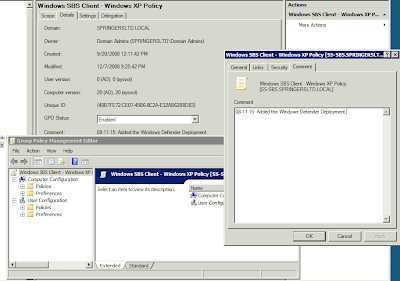 MPECS Inc  Blog: SBS 2008 - Group Policy Object and Settings