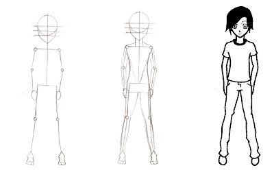 Morcego Fofo Como Desenhar Um Corpo Masculino Simples Manga