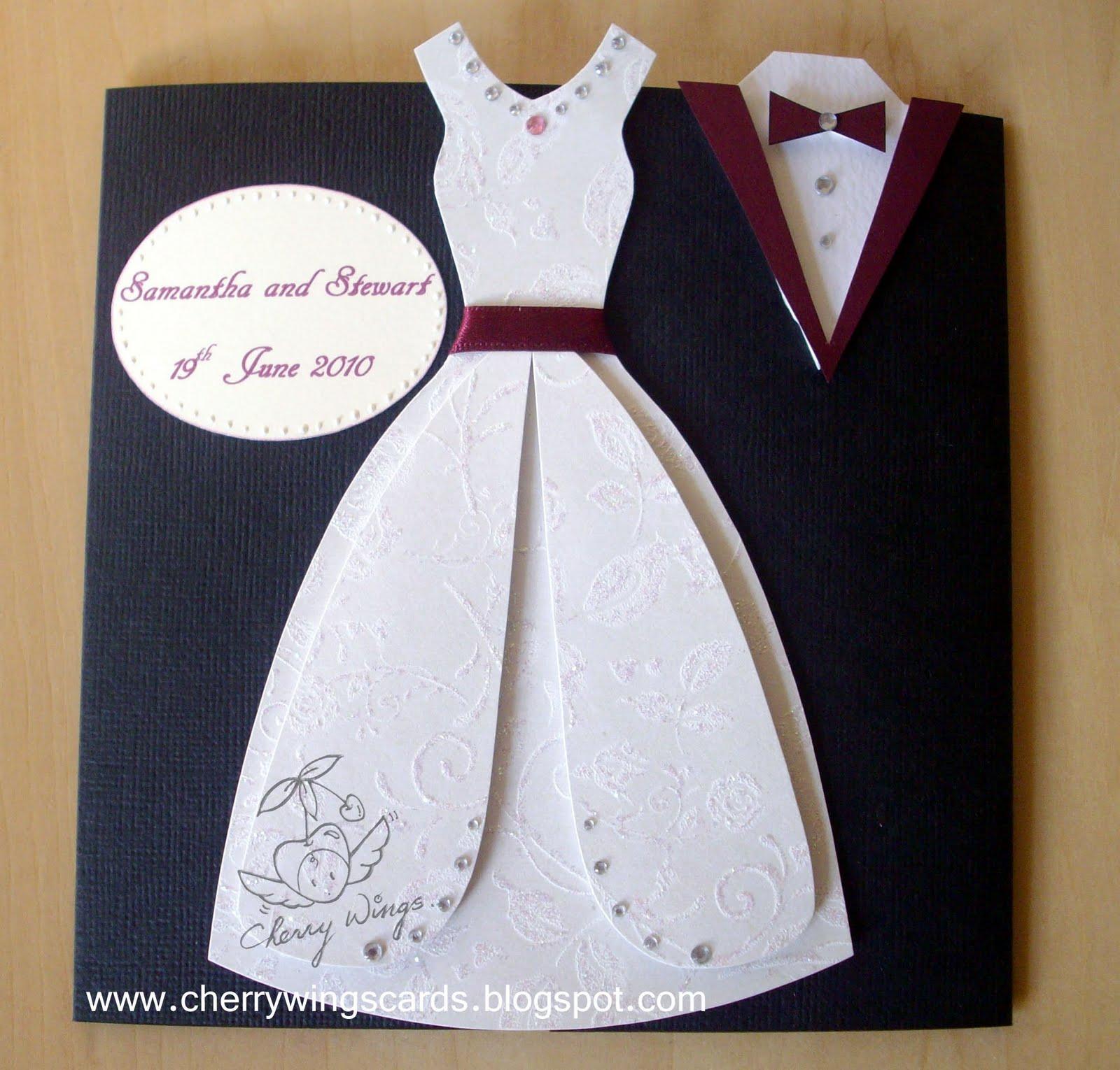 Открытка на свадьбу своими руками платье, поздравления
