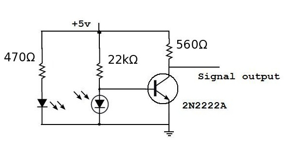 rotary encoder circuit connection