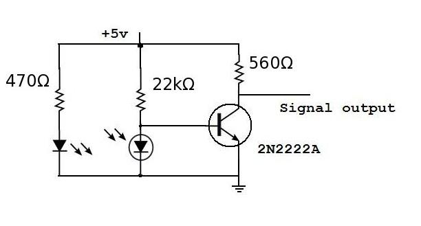 robot roots  motor encoder circuit