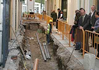 Servicios Urbanos quiere finalizar las obras de la calle Tenor Iribarne antes de Semana Santa