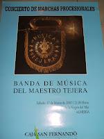 Ya en la calle el cartel del concierto del Maestro Tejera