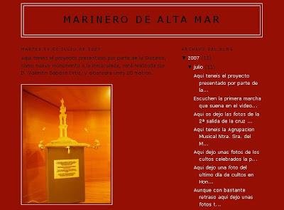 """""""Marinero de alta mar"""", nuevo blog cofrade"""