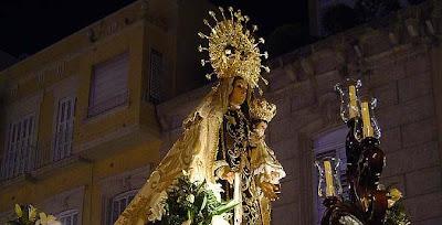 El sábado, Exaltación a la Virgen del Carmen de San Sebastián