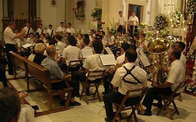 Espléndido concierto de la Banda de Sorbas con la Virgen del Carmen por protagonista