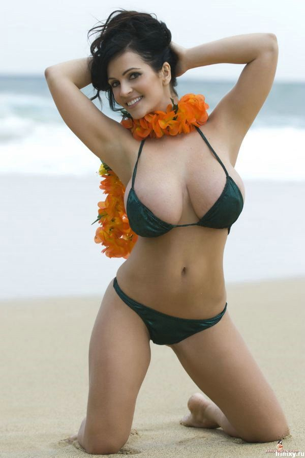 Denise Milani In Black Bikini 37