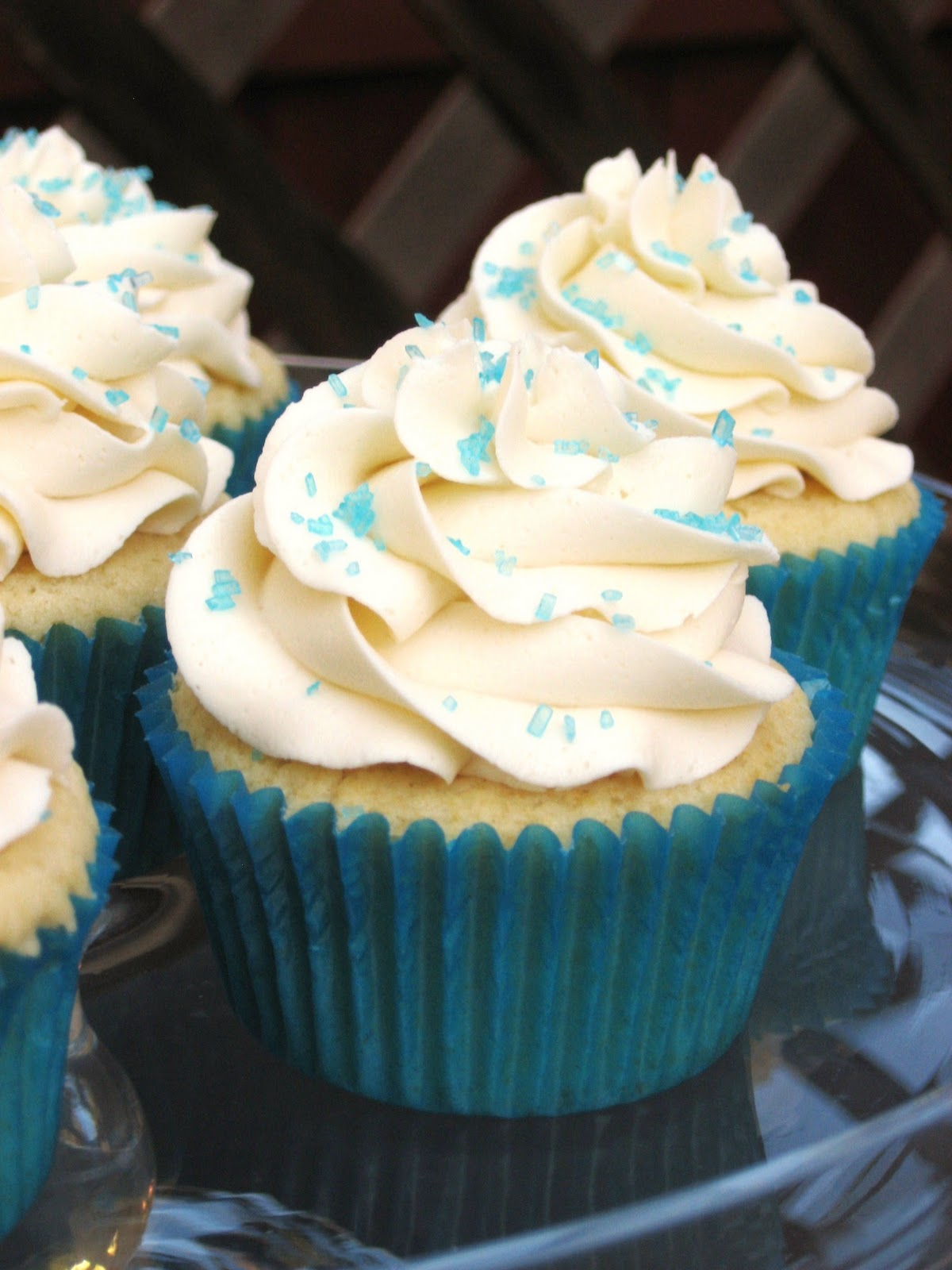 Burn Me Not Vanilla Cupcakes with Buttercream Frosting