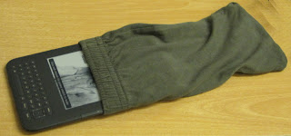 Kindle in a sock cover