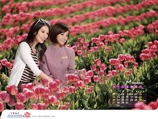 2008林志玲華航月曆四月