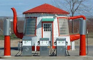 有趣的油站