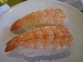 特價的鮮蝦壽司
