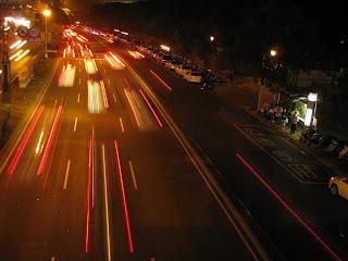 夜拍車流光影