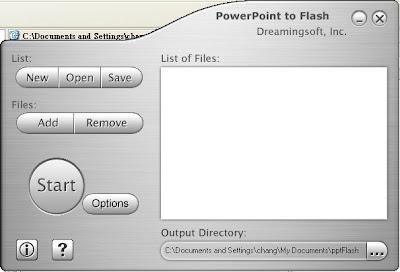 PowerPoint to Flash v1.6.4 (英文版免安裝)