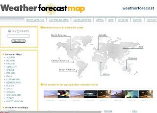 Blog widget  - weather forecast map