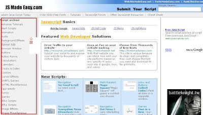 Html Javascript 動態程式的範例!Javascript  小工具