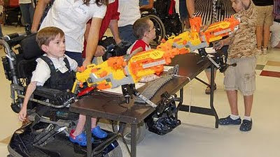Image of switch adapted Nerf Guns.