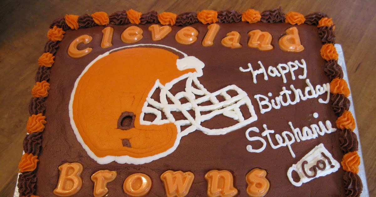 D S Cookie Jar Amp More Cleveland Browns Birthday Cake