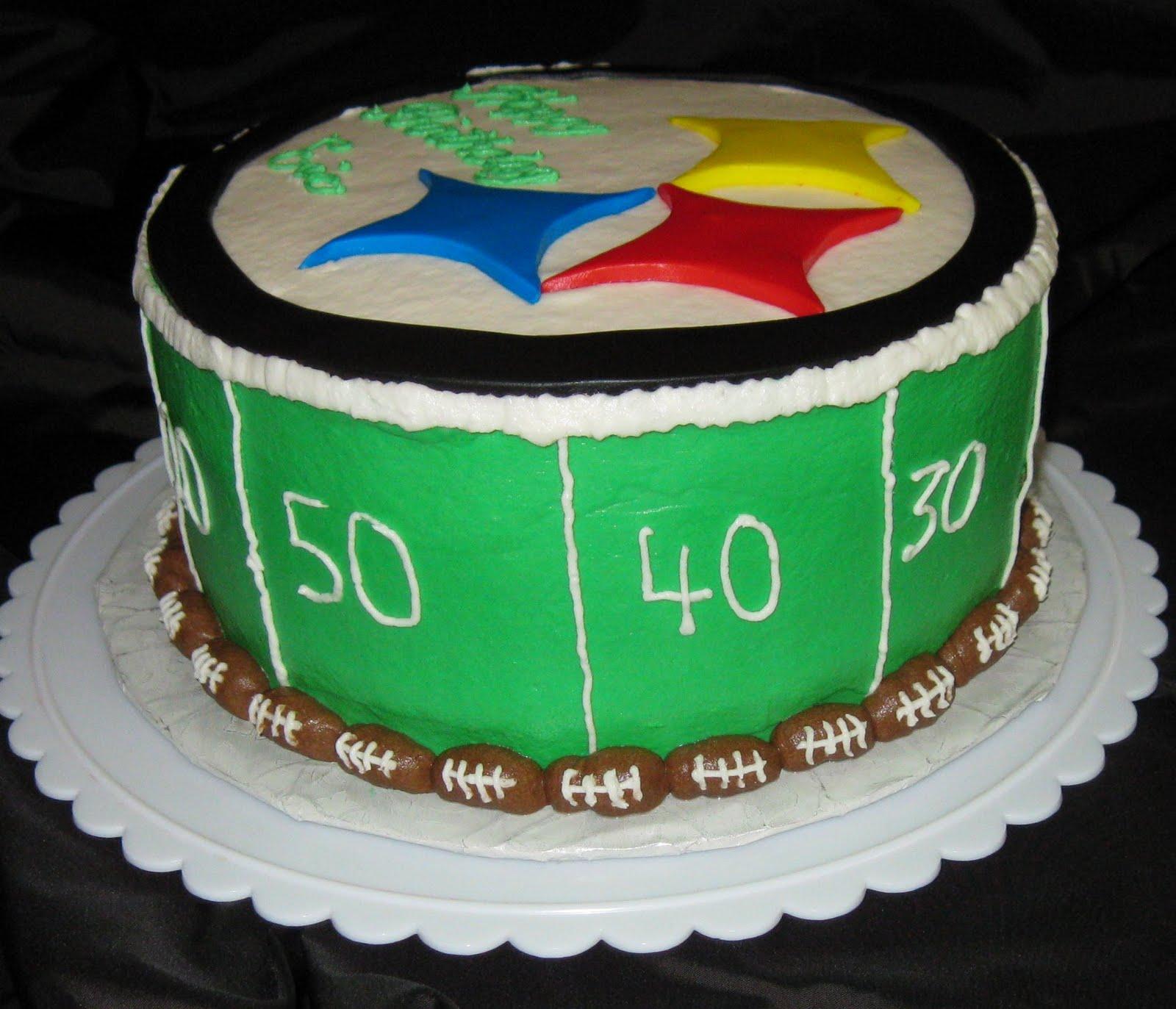 D's Cookie Jar & More: Steelers Birthday Cake