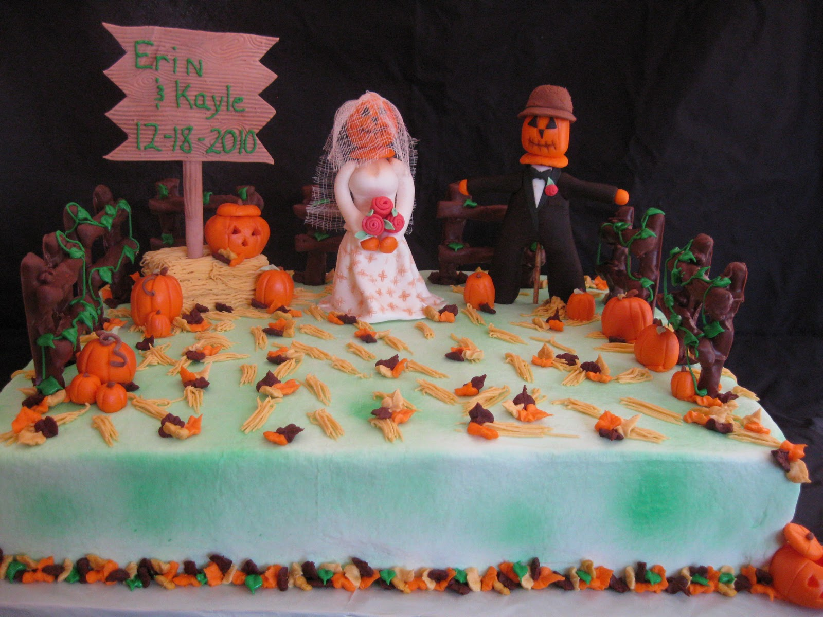 D's Cookie Jar & More: Fall Bridal Shower cake