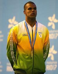 Andre Brasil no pódio sexta medalha de ouro