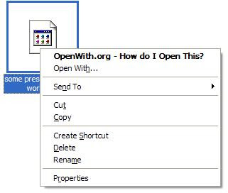 Automatically Identify Correct Program to Open Any Type of File Formats with OpenWith.org