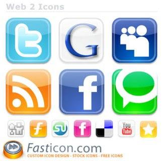 web2 social bookmarking icons set 75 Beautiful Free Social Bookmarking Icon Sets
