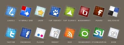 Set of social icons no 2 by Tydlinka 75 Beautiful Free Social Bookmarking Icon Sets