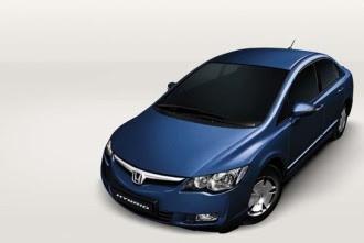 Honda hybrid from above