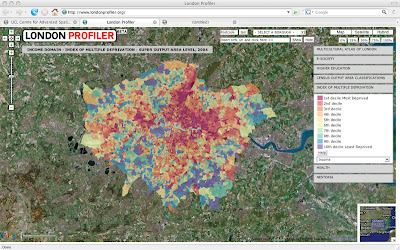 Easy London Map.London Profiler Easy To Use Geo Demographics Using Google Maps
