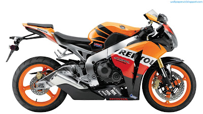 Orange Sports Bike HD Wallpaper