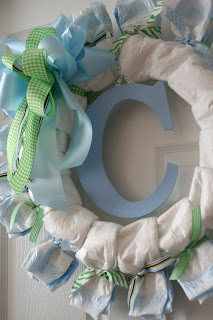 Design Etc Diaper Wreath For My Newest Nephew