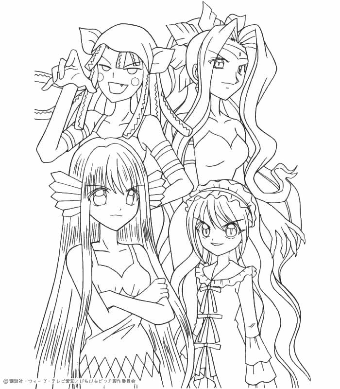 yummi land coloring pages | Mermaid Melody