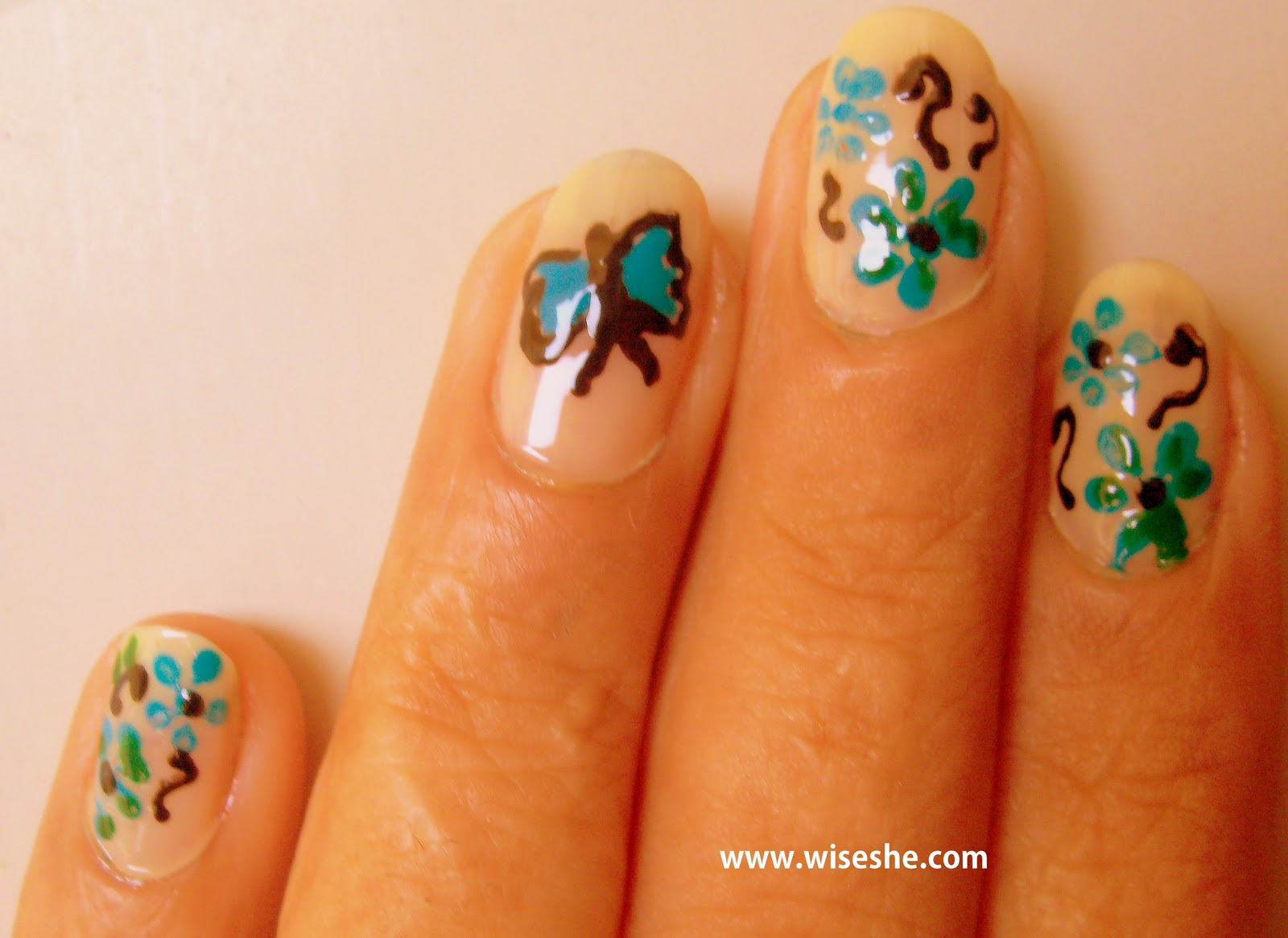 Nail art ideas - Butterfly nail art tutorial with step by step ...