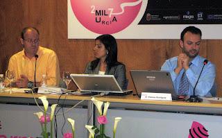 A la izquierda de la imagen, Ignacio Esteban, director de contenidos digitales de la Agencia EFE, y a la derecha, Jaime Estévez, responsable de Europa Press.net