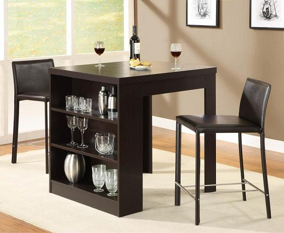 Small Dining Table With Storage Shelf Home And Interior Design