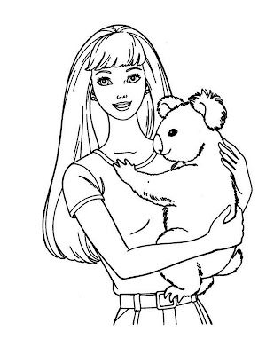 barbie coloring pages free # 60