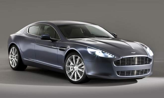 first aston martin rapide rolls off production line