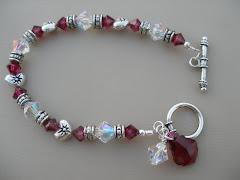 Crystal & Ruby Swarovski Bracelet