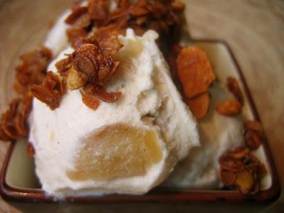 Cake or Death?: Baked Apple Ice Cream & Honey Granola