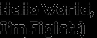 Linux shell - the black console of madness: Figlet - the