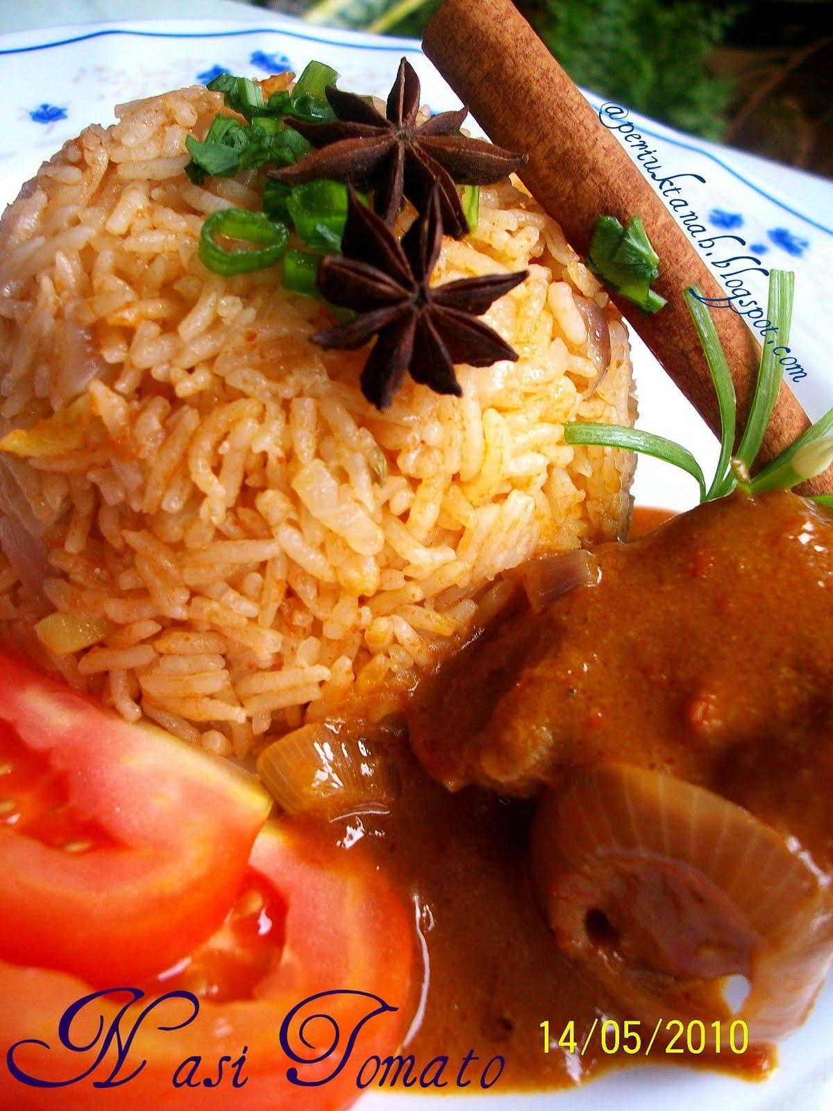 periuktanah: Nasi Tomato dan Kurma Merah