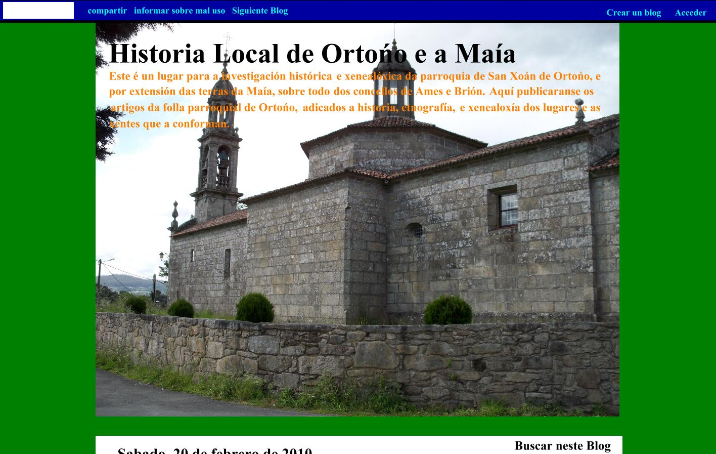 Blog de Historia Local de Ortoño e a Maía